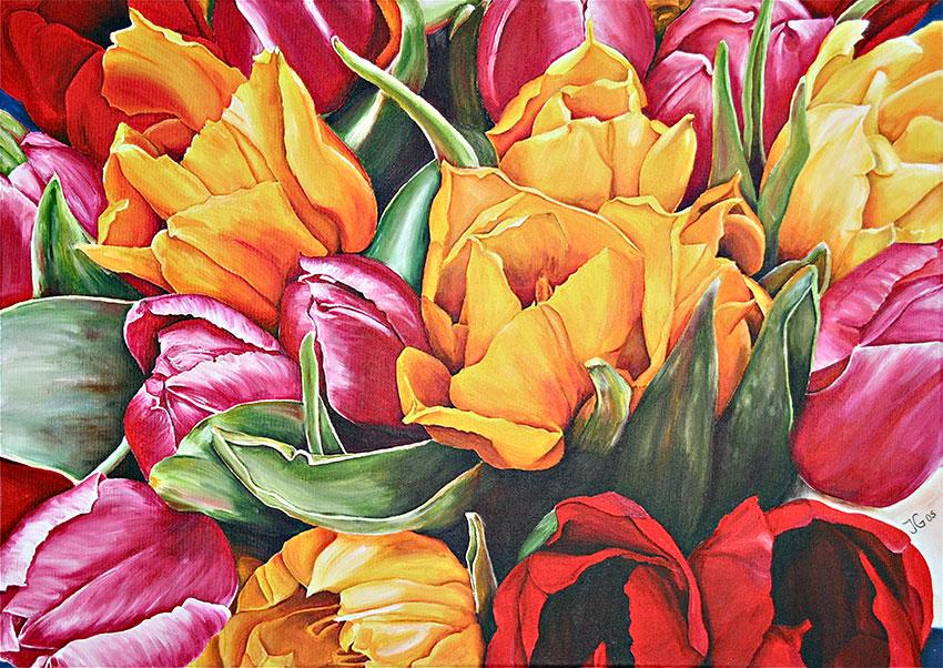Gelb-rote Tulpen